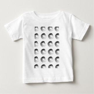 Mushroom Spore Print Design Black and White Baby T-Shirt