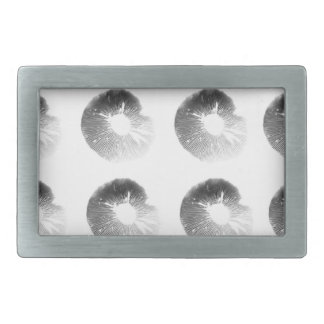 Mushroom Spore Print Design Black and White Belt Buckle