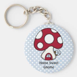 Mushroom Toadstool Fairy House Home Sweet Gnome Keychains