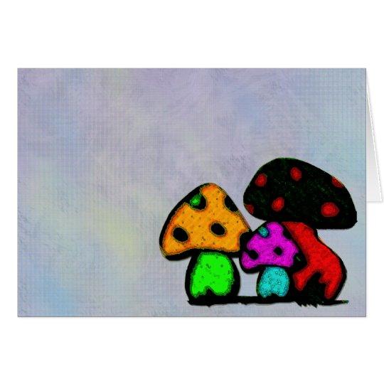 mushroom trio card