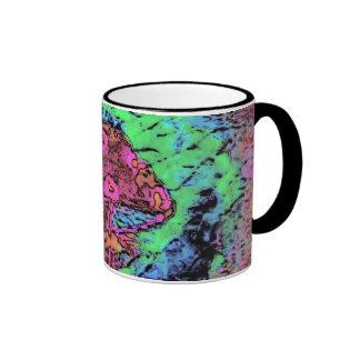 Mushroom Tye Dye Ringer Coffee Mug