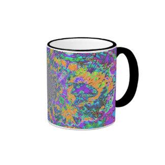 Mushroom Tye Dye Polaris Ringer Mug