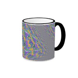 Mushroom Tye Dye Tile Ringer Coffee Mug