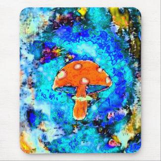 Mushroom  Tye Dyed Mouse Pad