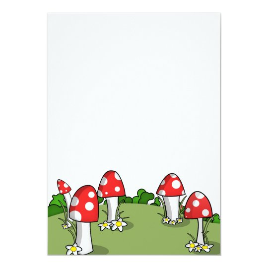 Mushrooms 13 Cm X 18 Cm Invitation Card