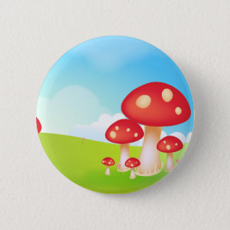 Mushrooms 6 Cm Round Badge