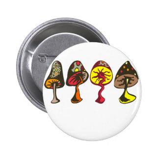Mushrooms 6 Cm Round Badge