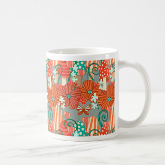 Mushrooms and Fall Flora Basic White Mug