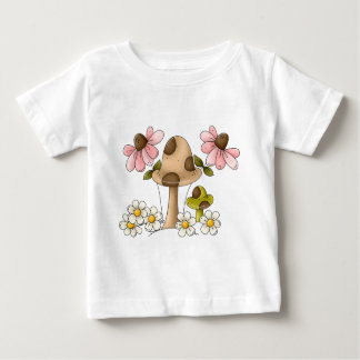 Mushrooms and Flowers Baby T-Shirt