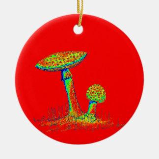 Mushrooms and Toadstools art. Christmas Ornament