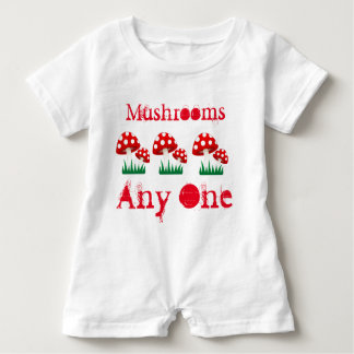 Mushrooms Any One Baby Romper Baby Bodysuit