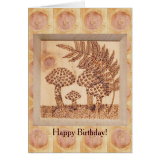 Mushrooms Autumn Birthday Rustic Woodland Greeting Cards