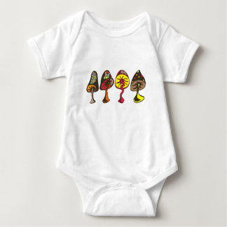 Mushrooms Baby Bodysuit
