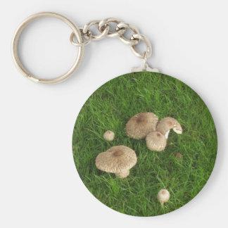 Mushrooms Basic Round Button Key Ring