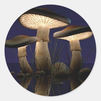 Mushrooms by J. Matthew Root Round Sticker