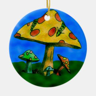 Mushrooms Christmas Ornament