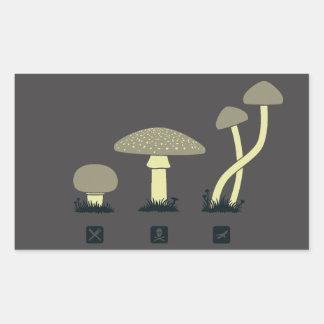 Mushrooms (food, poison, high) rectangular sticker