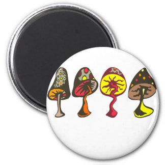 Mushrooms Fridge Magnets