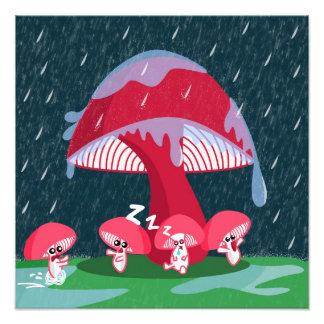 Mushrooms in the rain photograph