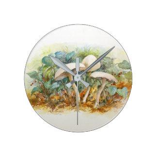 Mushrooms in the Woods clock