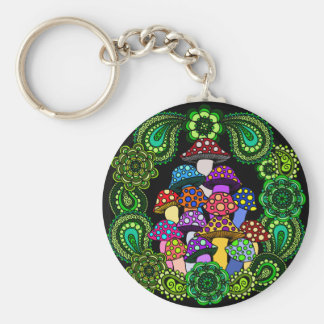 Mushrooms Keychain