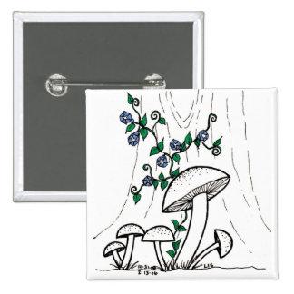 Mushrooms & Morning Glories button