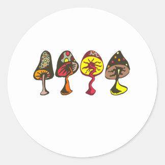 Mushrooms Round Sticker