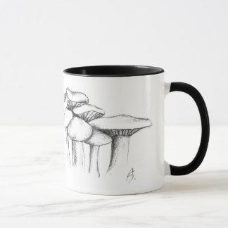 Mushrooms Speisemorchel and violet Rötelritterling Mug