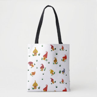 Mushrooms with heart All-Over-Print Tote Bag