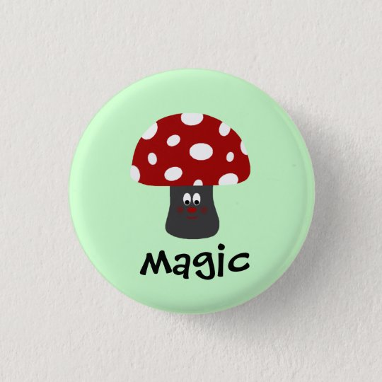 Mushroon Magic 3 Cm Round Badge