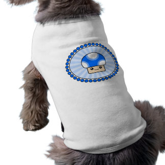 Mushy Puffs Kawaii Mushroom Blue Dog T-Shirt