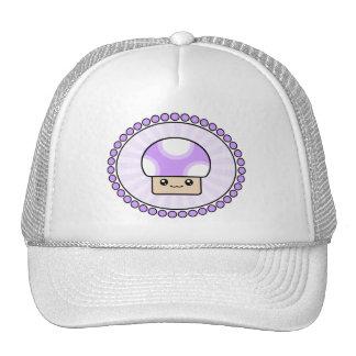 Mushy Puffs Kawaii Mushroom Purple Hat