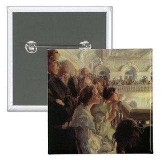 Music, 1902-03 15 cm square badge