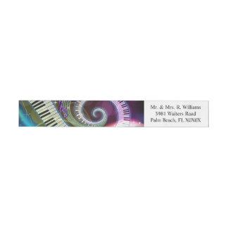 Music 1 wraparound address label