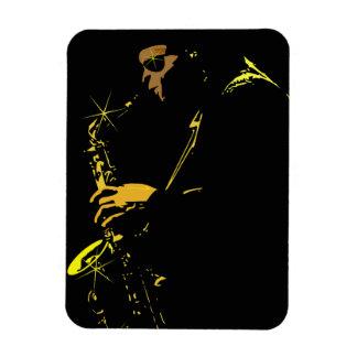 music-23767  music people jazz player sax COOL MUS Rectangular Magnets