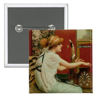 Music 2 15 cm square badge