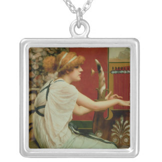 Music 2 silver plated necklace