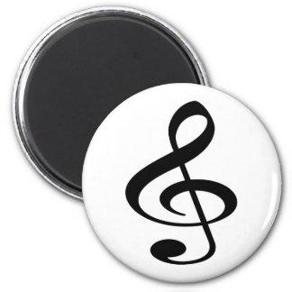 Music 6 Cm Round Magnet