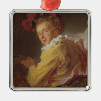 Music, a portrait of Monsieur de la Breteche Christmas Ornament