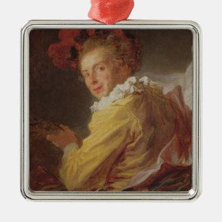 Music, a portrait of Monsieur de la Breteche Christmas Ornament