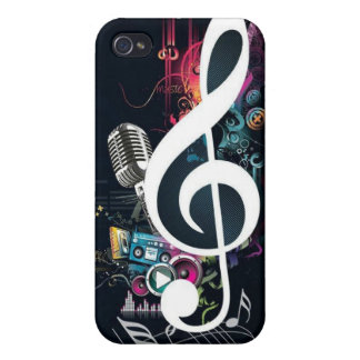 Music Abstract Collage iPhone 4/4S Cases