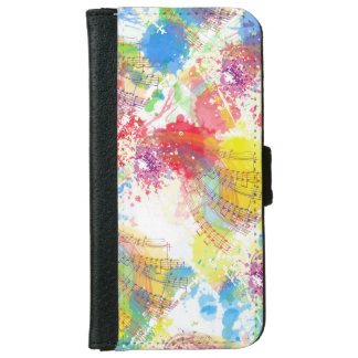 Music Abstract Design on  iPhone 6/6s Wallet Case