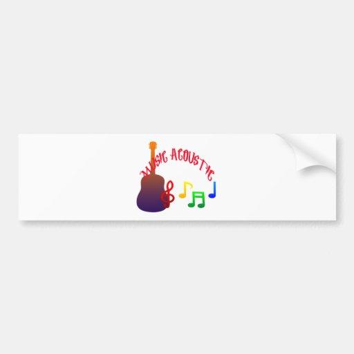 Music Acoustic Design Full color Bumper Sticker