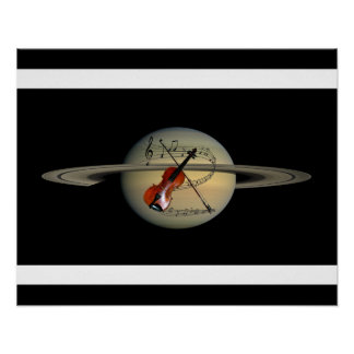 Music Across The Universe ~ Saturn ~ Violin  ~ Poster