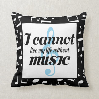 Music Addict Musician Throw Pillow Gift