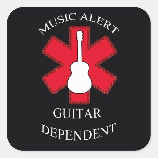Music Alert Acoustic Guitar Sticker