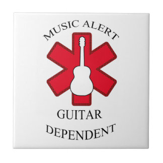 Music Alert Acoustic Guitar Tile