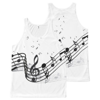 Music All-Over Print Tank Top