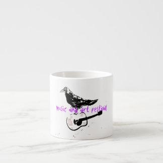 music and art festival espresso mug