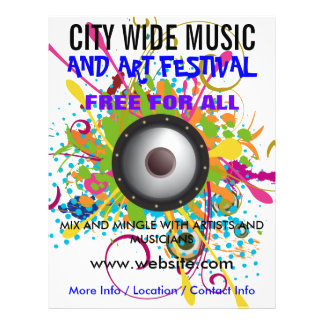 Music and Arts Festival Flyer